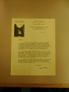 Eugene Odum's letter to Ed Raney (September 17, 1939)